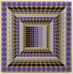 victor vasarely, dynn, 1982, acrylique sur toile,art moderne, modern art, abstraction géométrique, geometric abstraction, peinture, painting