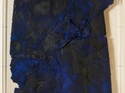 bezzina bernard, divination papier dechire bleu, sculpture bezzina, Galerie d'art Cannes, Galerie Hurtebize, art contemporain, contemporary art, sculpture