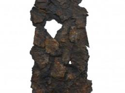 bezzina bernard, divination papier déchiré oxydé, sculpture bezzina, Galerie d'art Cannes, Galerie Hurtebize, art contemporain, contemporary art, sculpture