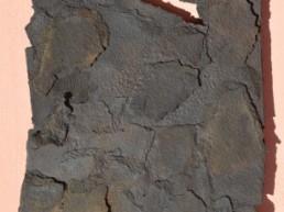 bezzina bernard, sculpture bezzina, divition papier déchiré oxydé, Galerie d'art Cannes, Galerie Hurtebize, art contemporain, contemporary art, sculpture
