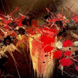 toile alkyde Aveux Obscurs de Georges Mathieu