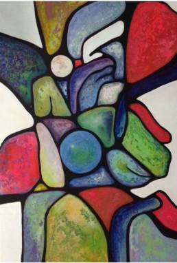 anna nansky, attente, Galerie d'art Cannes, Galerie Hurtebize, achat tableau art, art contemporain, contemporary art, art abstrait, abstract art, peintures, tableau, painting