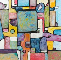 anna nansky, aztèques, Galerie d'art Cannes, Galerie Hurtebize, achat tableau art, art contemporain, contemporary art, art abstrait, abstract art, peintures, tableau, painting