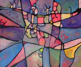 anna nansky, bal costumé, Galerie d'art Cannes, Galerie Hurtebize, achat tableau art, art contemporain, contemporary art, art abstrait, abstract art, peintures, tableau, painting