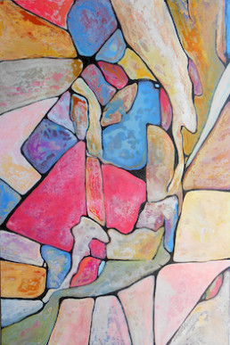 anna nansky, chahut, Galerie d'art Cannes, Galerie Hurtebize, achat tableau art, art contemporain, contemporary art, art abstrait, abstract art, peintures, tableau, painting