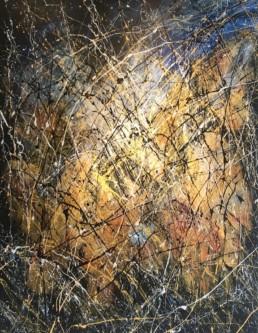 jaune, noir, peinture, painting, art contemporain, contemporary art, gallery, galerie d'art cannes, galerie hurtebize