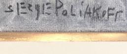 signature de Serge Poliakoff extraite du tableau composition abstraite