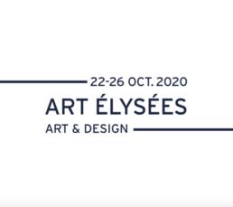 logo blanc du salon art elysées edition 2020
