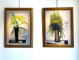 duo de toile représentant des bouquets de fleurs de Bernard Buffet