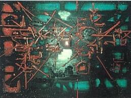 Toile Knossos de Georges Mathieu
