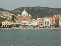 Port de Mytilène en Grèce