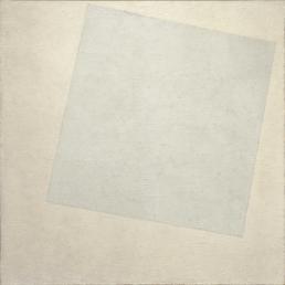 Oeuvre de Kasimir Malevitch de 1918 carré blanc sur fond blanc