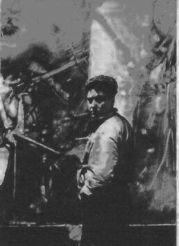 Portrait noir et blanc de Roberto Matta