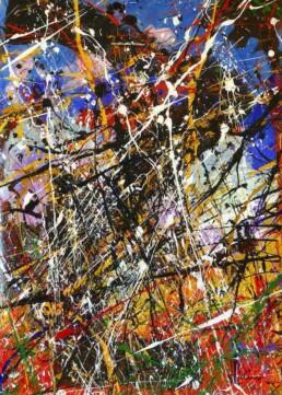 Composition A083 acrylique sur toile de Jean Jacques Marie