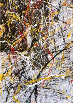Composition A110 acrylique sur toile de Jean Jacques Marie