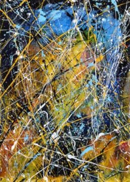 Composition A273 acrylique sur toile de Jean Jacques Marie