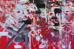 Détresse Vaincue de Georges Mathieu rouge de 1986