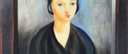 Huile sur toile Jeune brune aux yeux bleus de Moise Kisling 1924