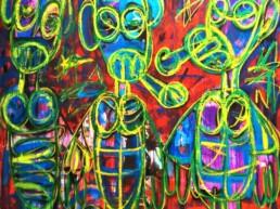 Oeuvre de 2017 de l'artiste contemporain Aboudia