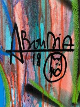Signature de l'artiste contemporain Aboudia