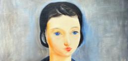 Zoom sur portrait féminin de Kisling
