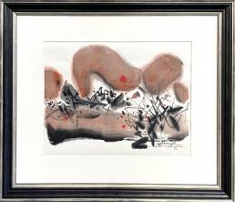 Encre de 1997 de l'artiste moderne CHU Teh-Chun